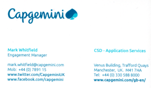mark whitfield capgemini project manager engagement agile prince2 upm